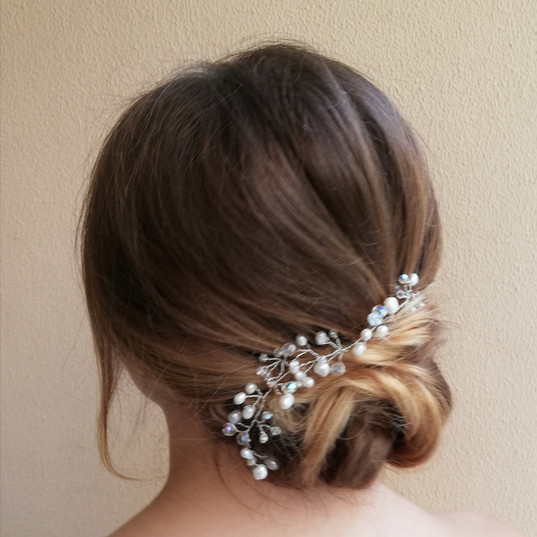 Bridal hair low bun