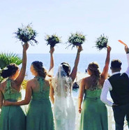 Bridal hair and bridesmaids