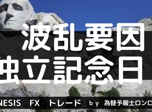 独立記念日で週明けの波乱要因に期待 【7/3~予報】テクニカル分析&ファンダメンタルズ分析ポイント