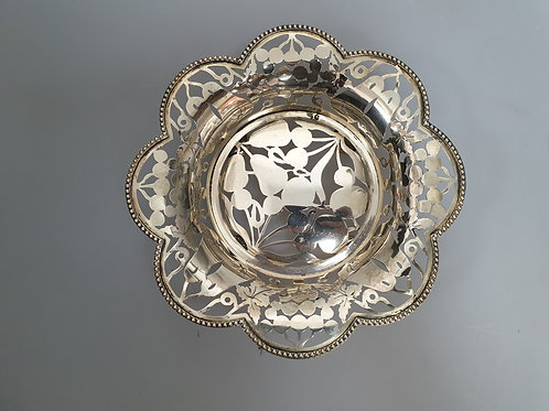 A portuguese sterling silver basket