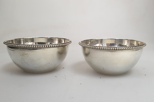 A set of two sterling silver bowls