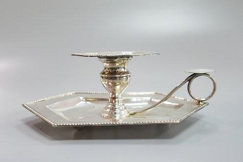 A portuguese sterling silver chamberstick / Palmatória em prata portuguesa