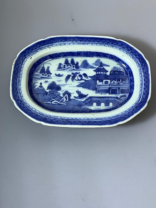 A jiaqing dish chinese export porcelain/Travessa cantão XIX