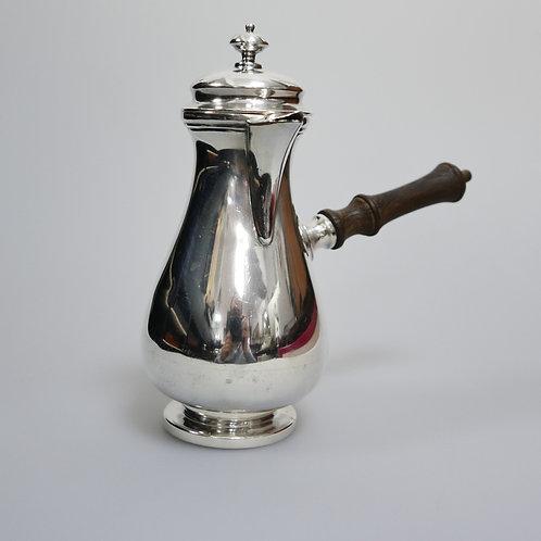 A portuguese sterling silver chocolate pot, mergulhão.