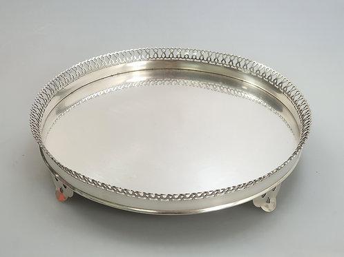 A Portuguese silver a pierced gallery salver