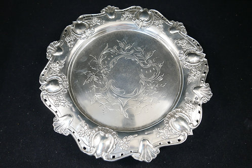 A portuguese sterling silver salver / Salva em prata portuguesa