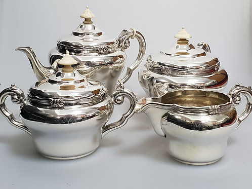 A Portuguese sterling silver tea and coffee