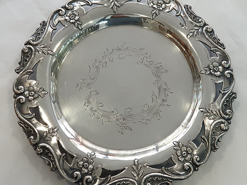 A salver portuguese silver