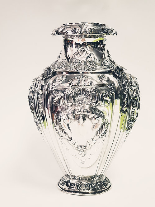 A Large vase silver