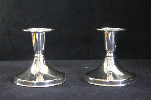 A pair of candlesticks sterling silver / Par de castiçais em prata