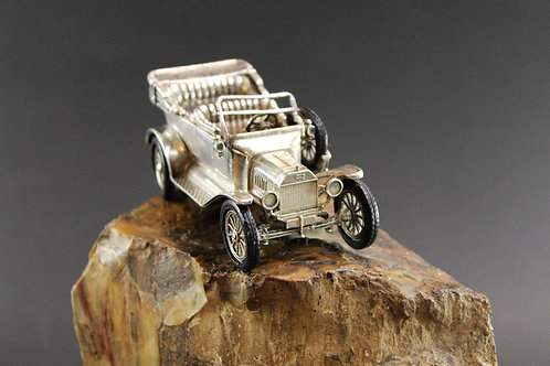 Miniature Car FordSpanish Silver / Carro em miniatura Ford em prata Espanhola