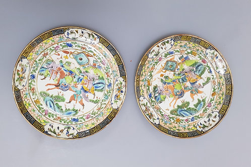 A pair19th century Chinese porcelain Mandarin dish