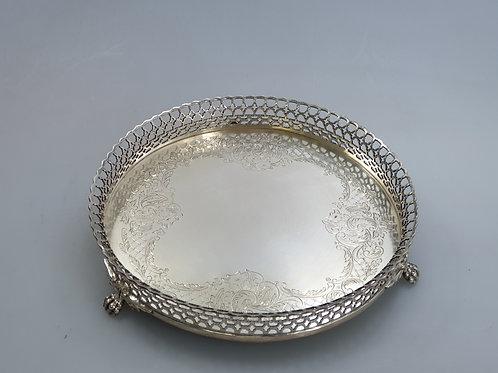 A galleried salver portuguese silver