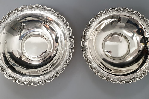 A Portuguese sterling silver pair of basket