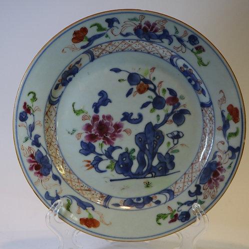 A chinese porcelainplate/ Prato companhia das índias séc.XIX