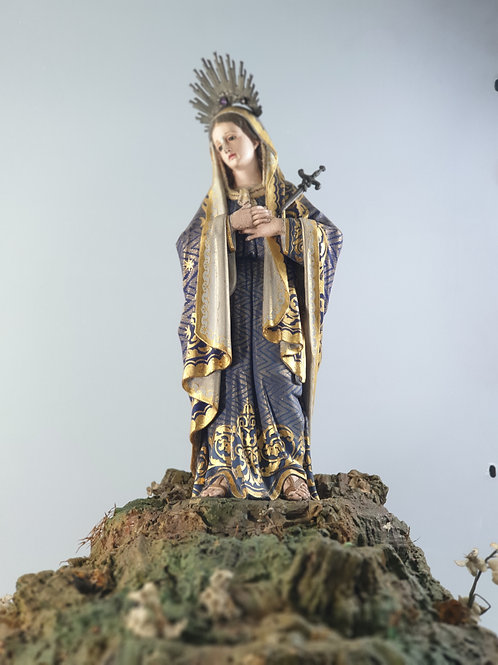 A saint our lady of sorrows Polychrome and gilt wood sculpture 18th century