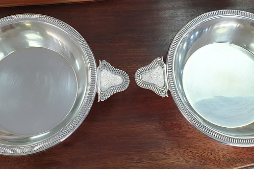 A pair of German silver bowls