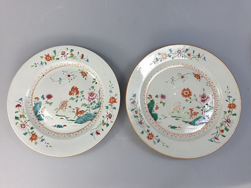 A pair of plates Chinese export porcelain