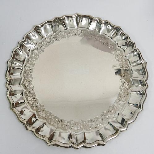 Portuguese sterling silver salver/ Salva em prata portuguesa