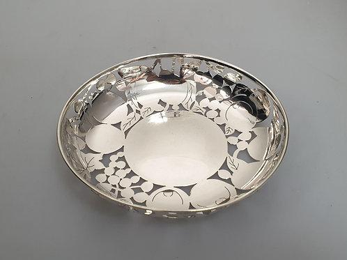 A Portuguese sterling silver salver