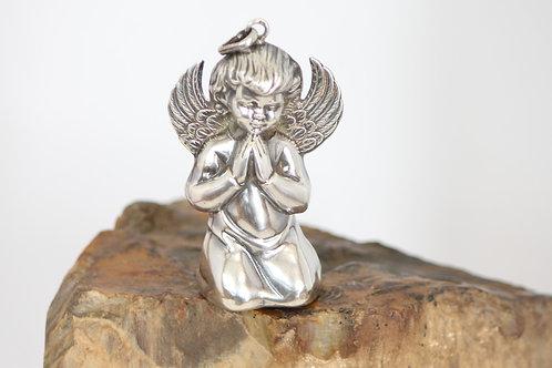 A pendant angel / Pendente anjo da guarda em prata portuguesa