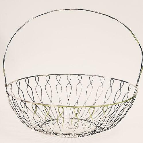 A Basket portuguese silver
