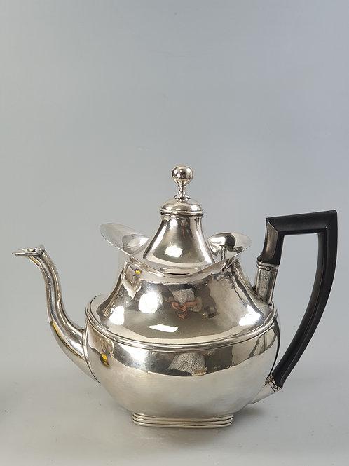 A portuguese silver coffee pot 19th century