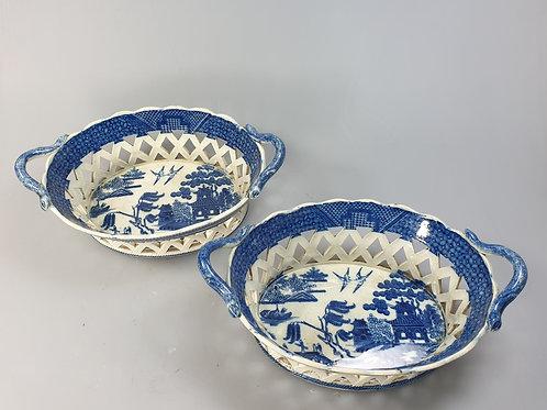 A pair og pierced baskets 19th century