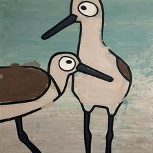 Willets On The Beach  •  40x40