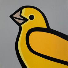 Yellow Bird  •  20x20