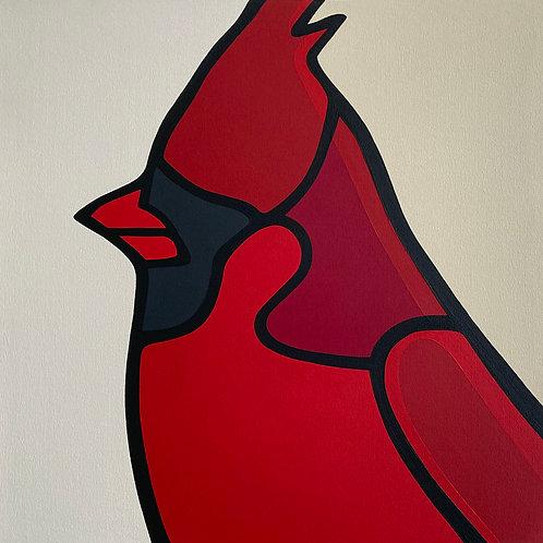 """Cardinal    •      24"""" x 24"""""""