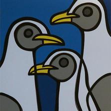 Sea Gulls  •  30x30