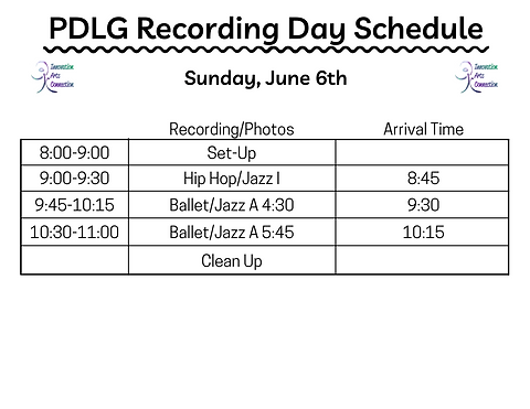 Recording Day Schedule PDLG.png