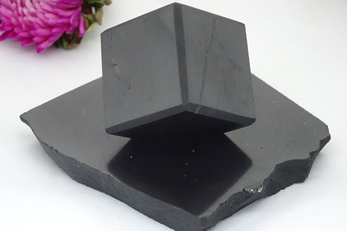 Shungite Cube on Base