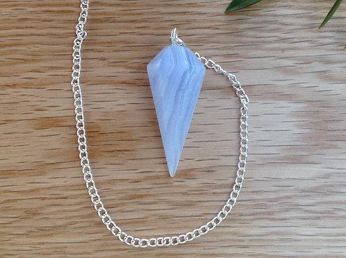 Blue Lace Agate Pendulum Dowser
