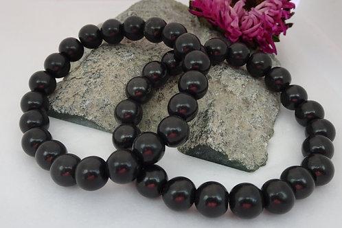 Shungite 10mm Bead Bracelet