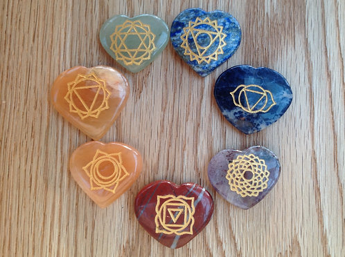 Chakra Symbol Set - Heart Shape