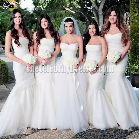Why not have White Bridesmaids dresses for weddings in October?