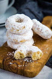 1/2 Dozen Powdered Sugar Donuts-  Weekends Only