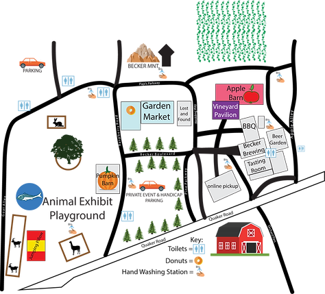 Becker farms main campus map 2020.png
