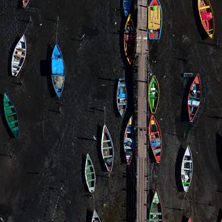 Colors of a low tide