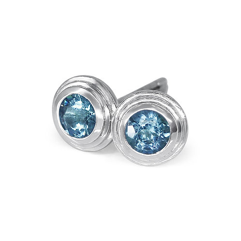 Ethically sourced Seafoam Tourmaline studs