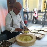 Sweet and Salty Catering Event Food Bike Fingefood Risotto Parmesan Bella Italia