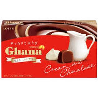 Ghana Cream and milk chocolate