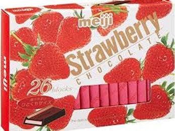 Meiji stramberry chocolate