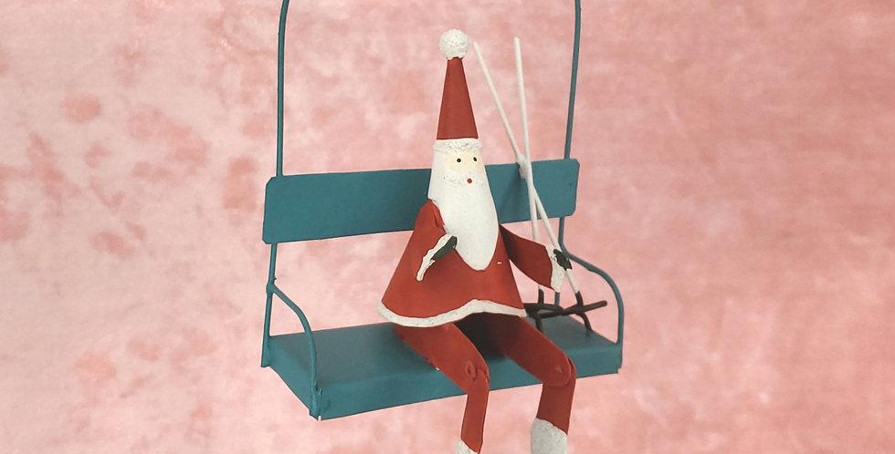 Santa Ski Lift Ornament