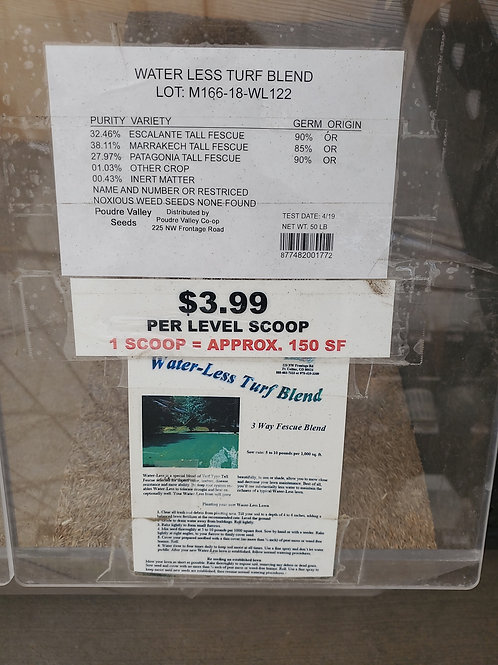 Grass Seed per scoop Water Less Turf