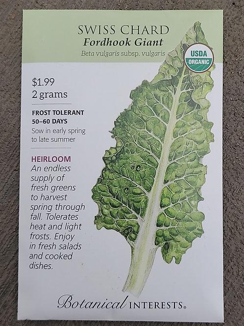 Swiss Chard Fordhook Giant Organic