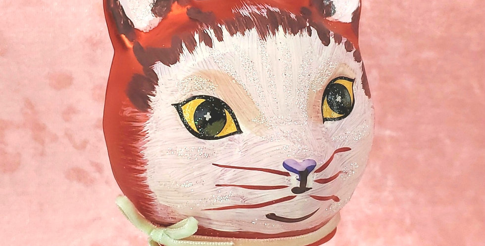 Cat by Natalie Lete Red Ornament