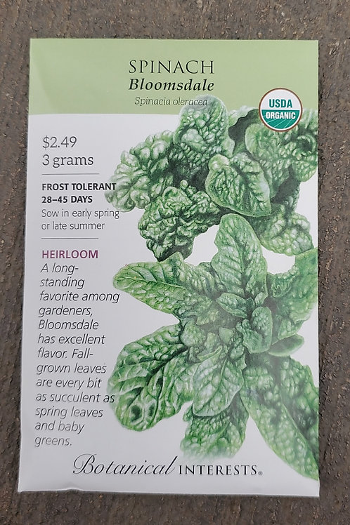Spinach Bloomsdale Organic